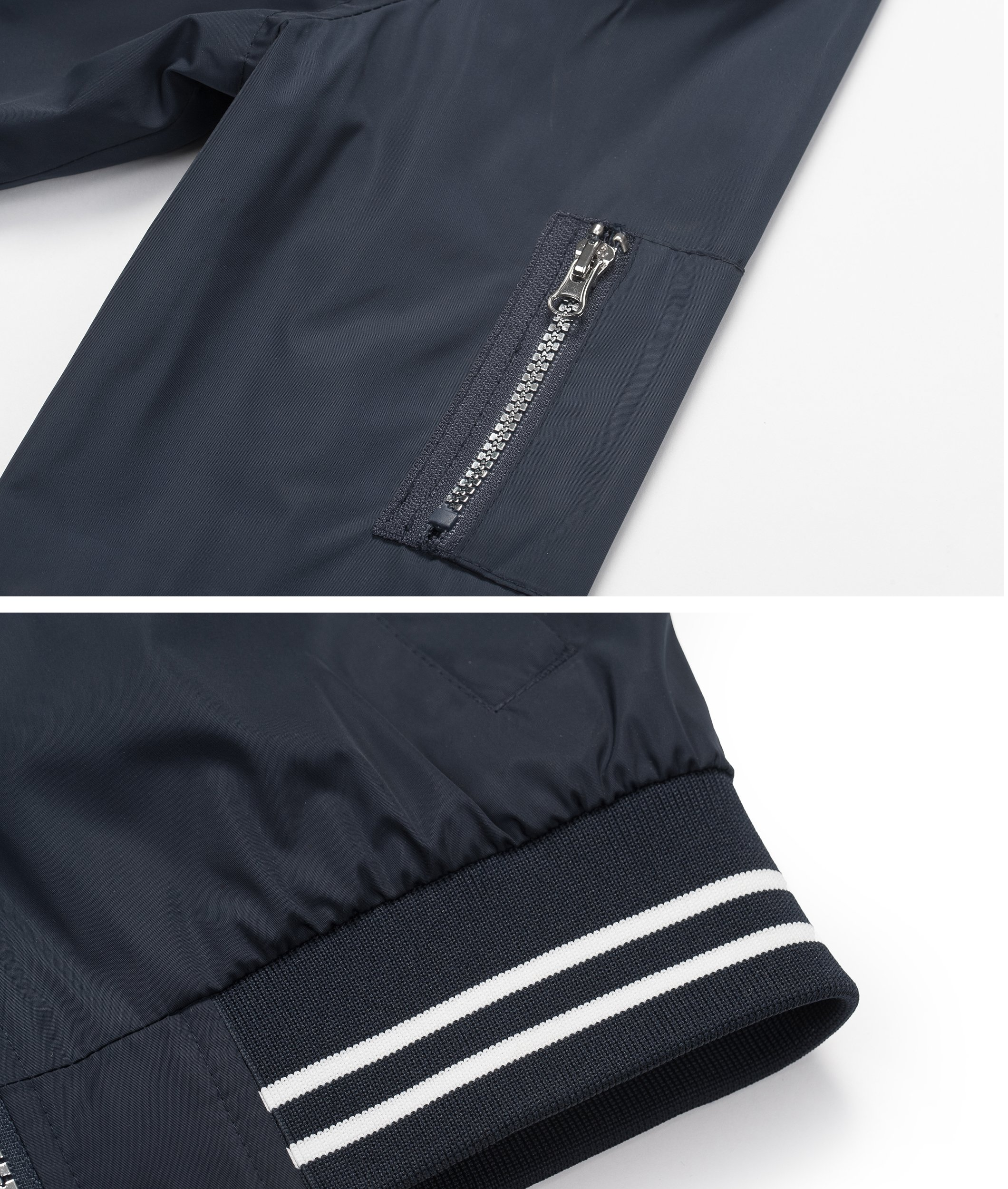 Rokka&Rolla Boys' Zip Up Lightweight Casual Fashion Wind Flight Bomber Jacket by Rokka&Rolla (Image #5)