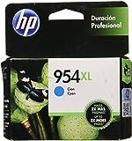 HP Num 954XL Cartucho de Tinta, Color Cian