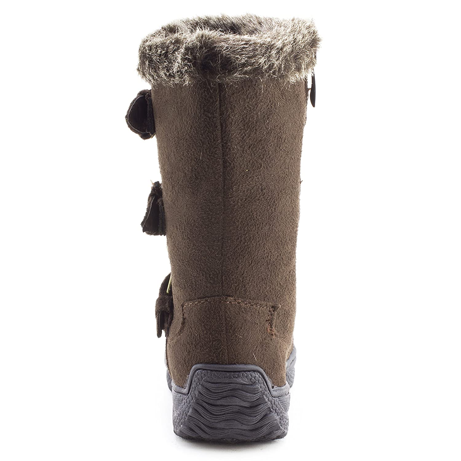 Toddler Link Toddler Mid Calf Fur Lining Side Zipper Faux Suede Boots