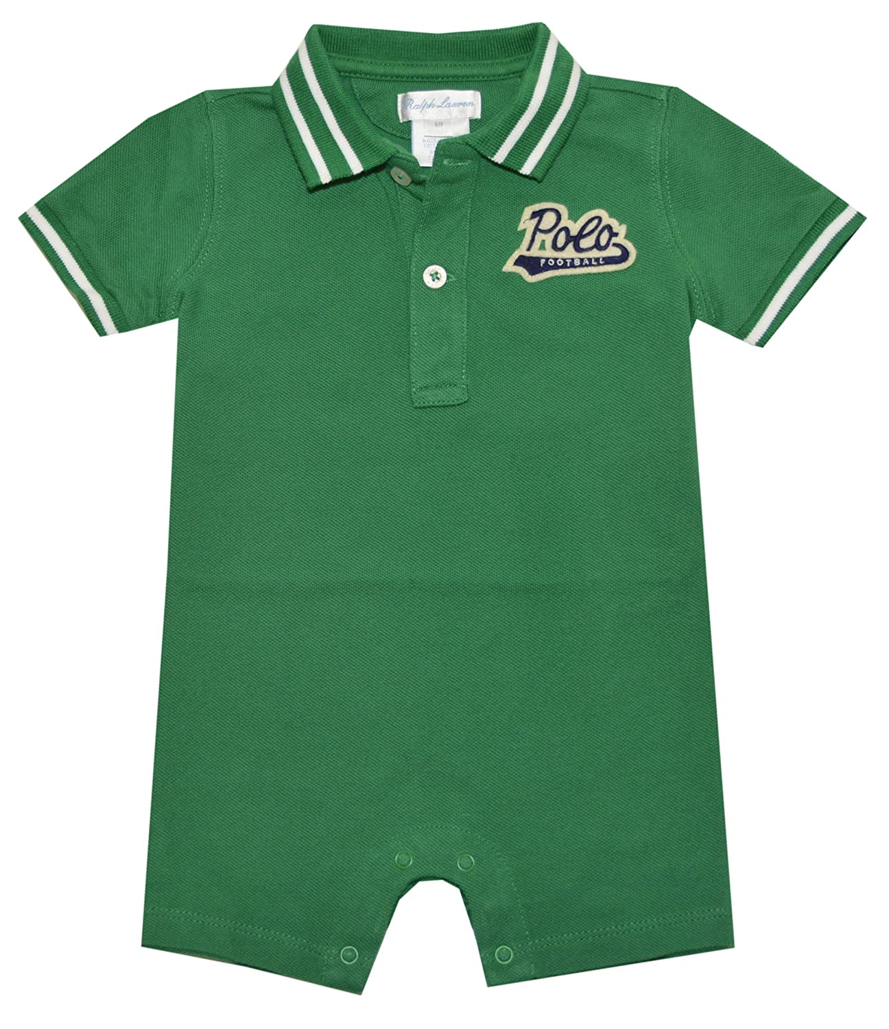 0a8314722 Amazon.com  RALPH LAUREN Baby Boys Varsity Shortall  Clothing