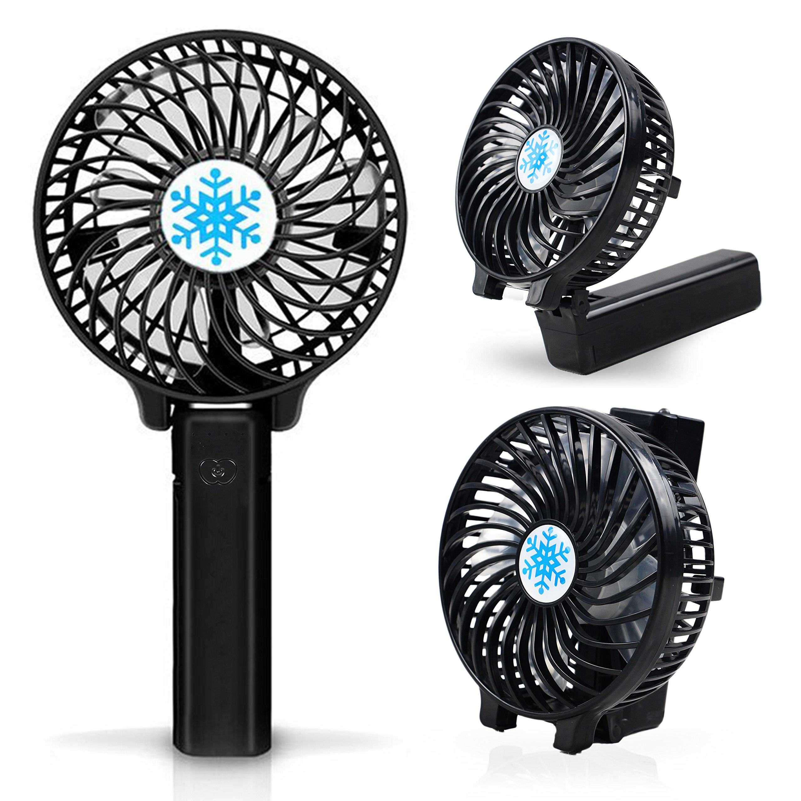 Mini Portable Fan with LED Light,Collapsible Personal Fan USB Rechargeable Battery,18650 Lithium Rechargeable Battery,Lightweight Handheld Cooling Fan,Adapt to Outdoor sports,shopping,travel,office by YONGYUAN (Image #6)
