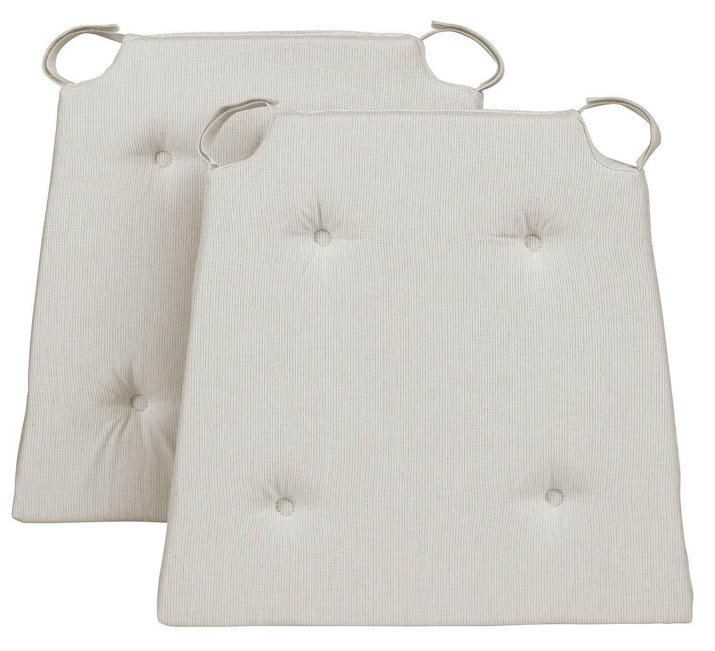 40/x 42/x 4/cm Traumnacht Chair Cushion Set of 2 Cotton Green 2/Units