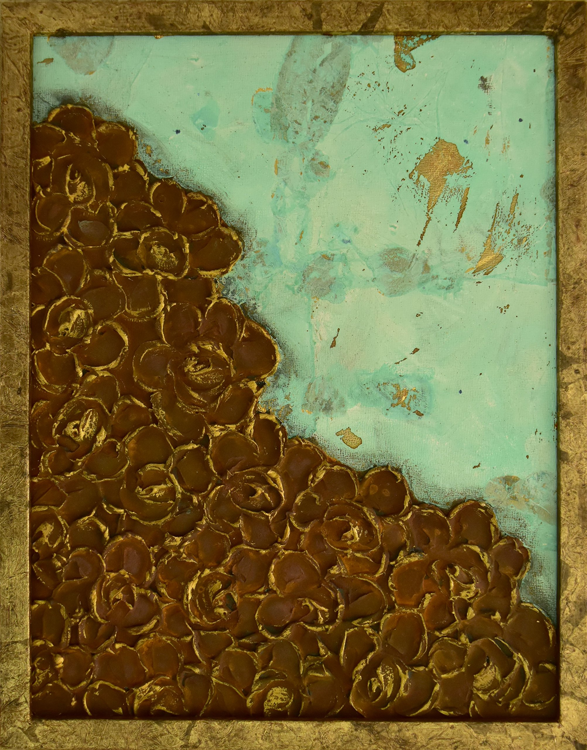 Abstract Rust and Patina Floral by