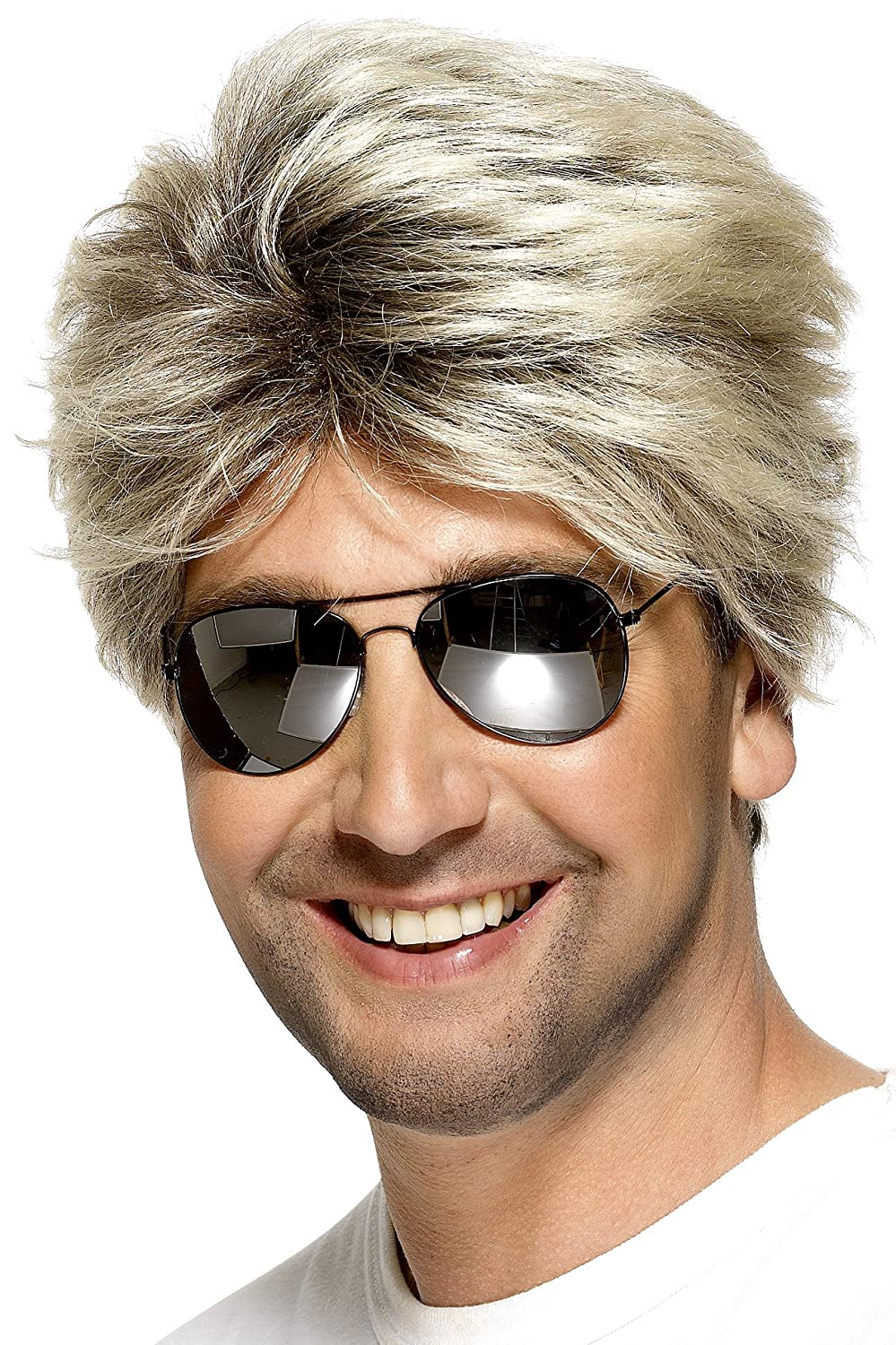 Smiffys Men's 80's Street Wig Short and Straight, Blonde, One Size Smiffy's 42029