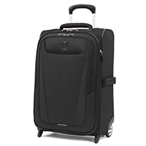 "Travelpro Luggage Maxlite 5 22"" Lightweight Expandable Carry-on Rollaboard Suitcase, Black"