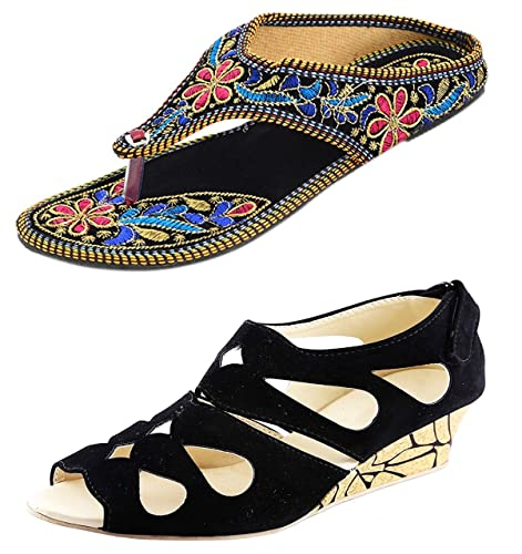 5fbe3cf97fb Thari Choice Women s Synthetic Sandals Combo Pack  Buy Online at Low ...
