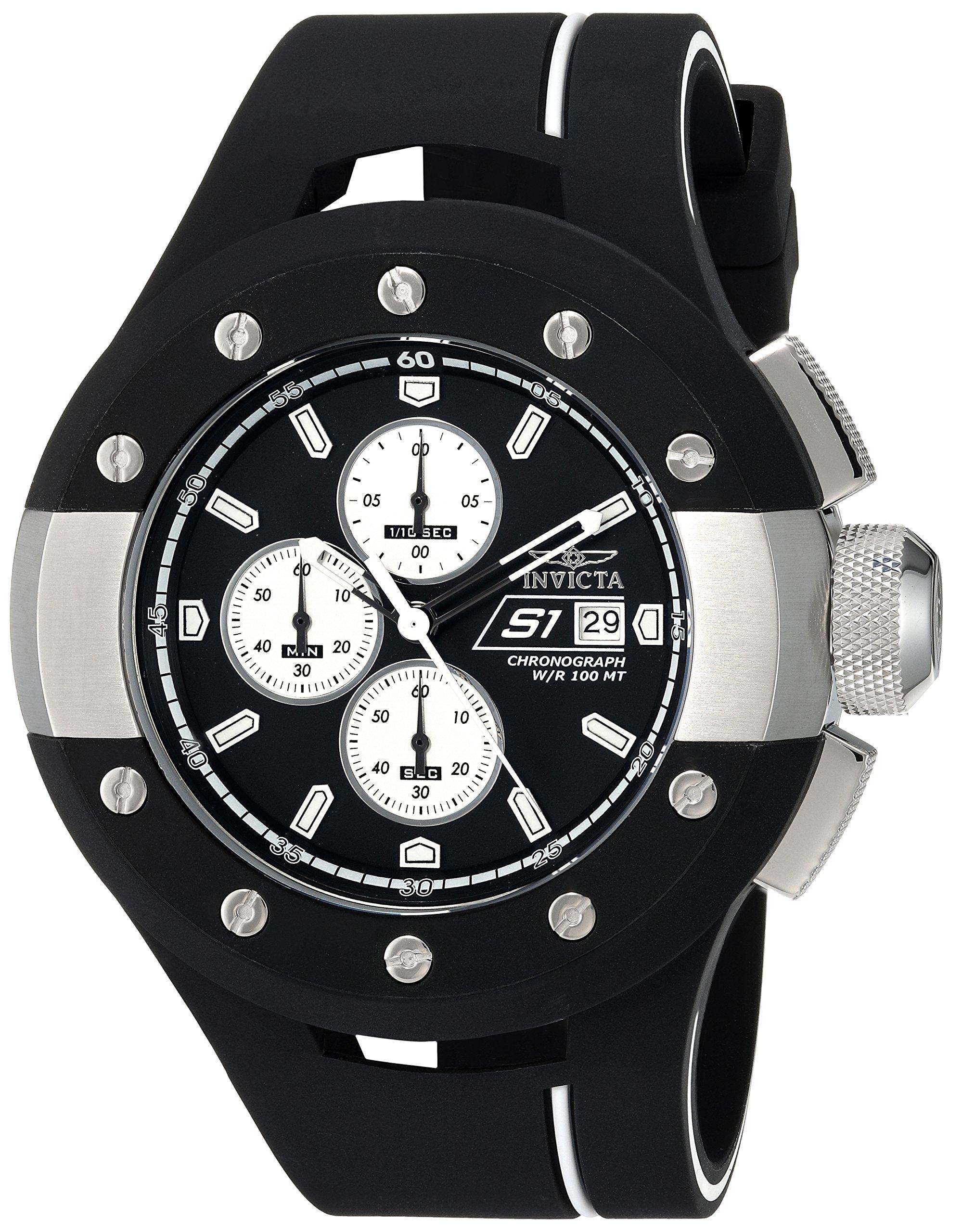 ویکالا · خرید  اصل اورجینال · خرید از آمازون · Invicta Men's S1 Rally Stainless Steel Quartz Watch with Silicone Strap, Black, 31 (Model: 22436) wekala · ویکالا
