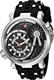 Swiss Legend Men's 'Time Traveler' Quartz Stainless Steel and Silicone Casual Watch, Color:Black (Model: 13841SM-01)