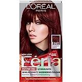 L'Oreal Paris Feria Multi-Faceted Shimmering Permanent Hair Color, R48 Red Velvet (Intense Deep Auburn), Pack of 1, Hair…