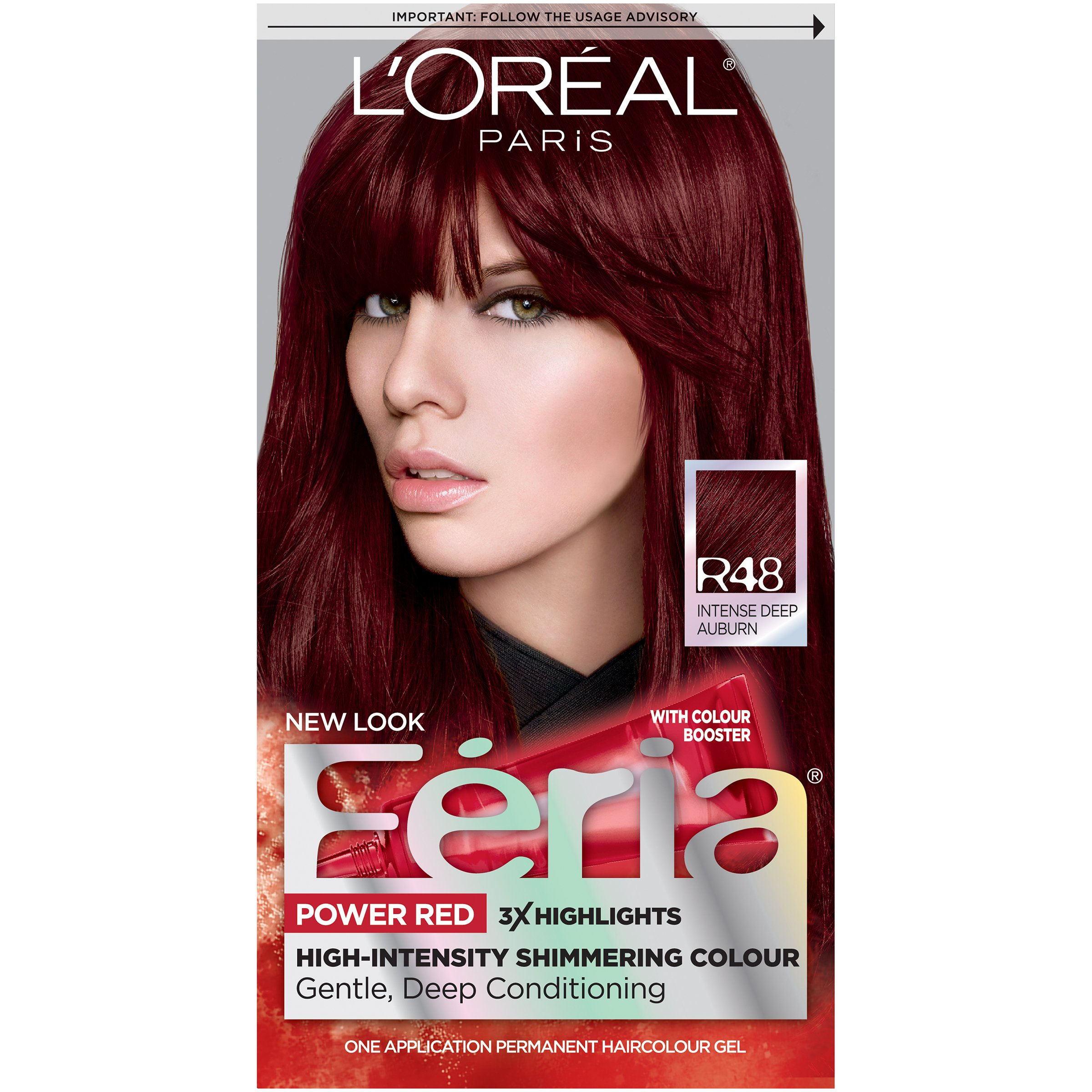 Amazon.com  Lu0026#39;Oru00e9al Paris Feria Permanent Hair Color R57 Cherry Crush (Intense Medium Auburn ...