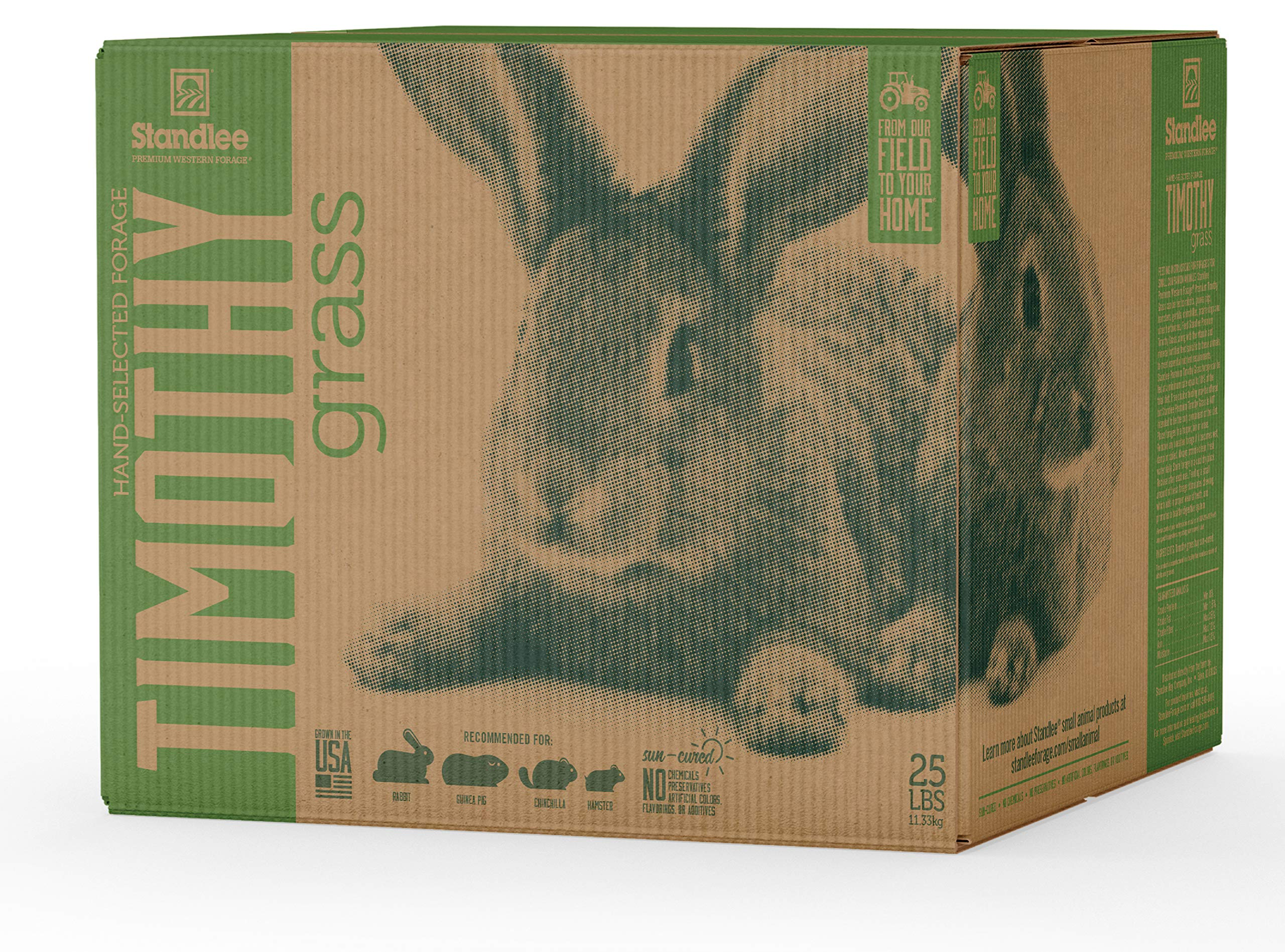Standlee Hay Company Premium Timothy Grass Hand-Selected Forage, 25 lb Box by Standlee Hay Company