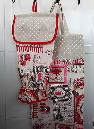 Bolsa de pan y guardabolsas pasteles: Amazon.es: Handmade