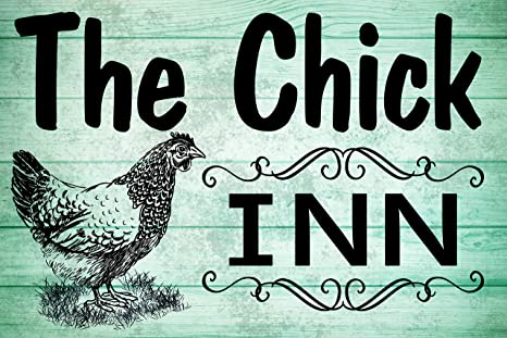 Chick Inn Chicken Coop Sign Eggs Rustic Wall Plaque or Hanging House Country