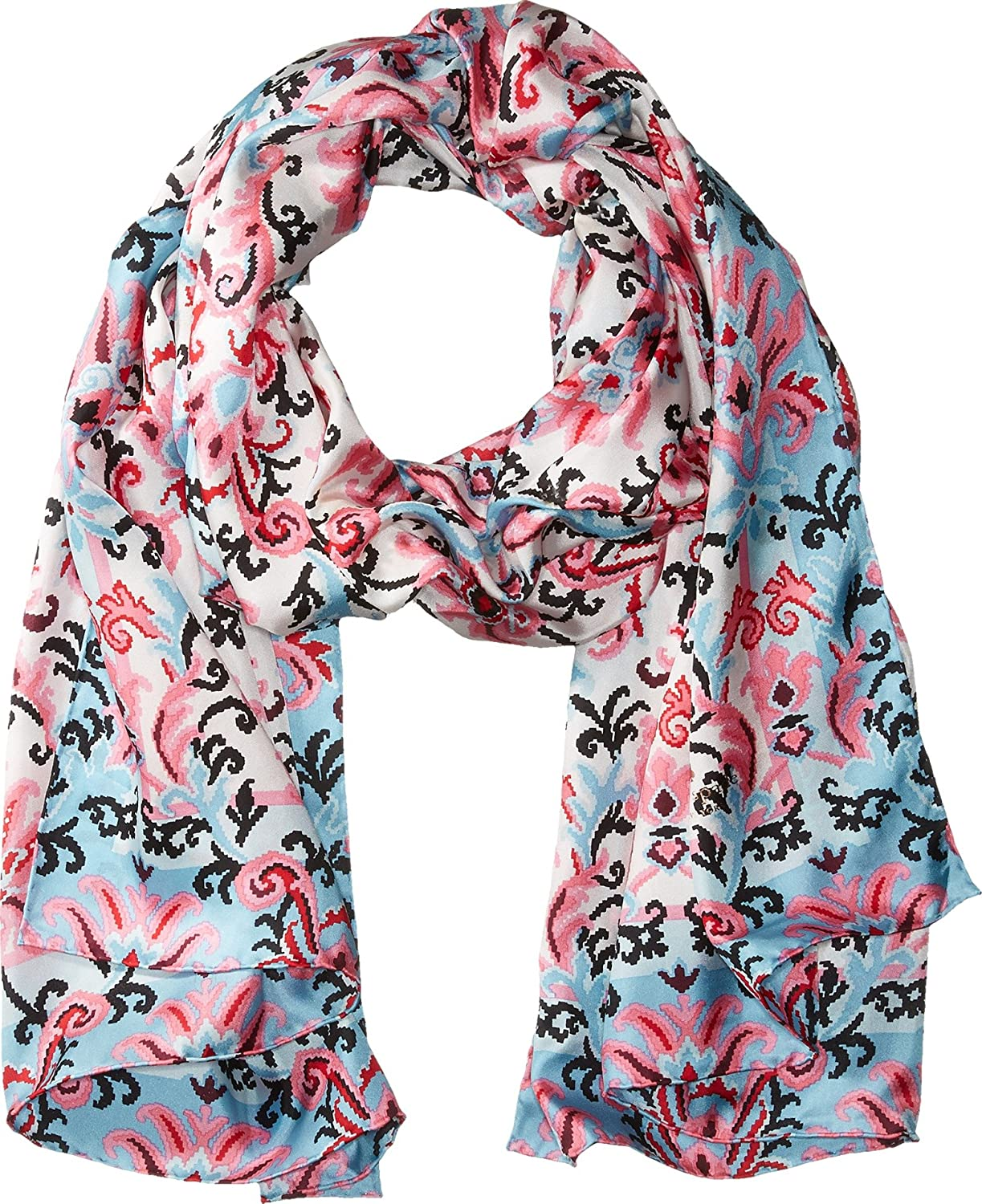 Kate Spade New York Womens Tapestry Silk Oblong Scarf Parisian Pink Pashmina Kerudung Pk2 23 One Size At Amazon Clothing Store