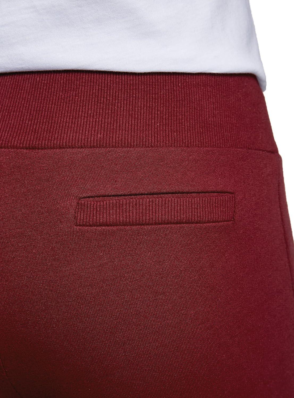 oodji Ultra Femme Pantalon de Sport en Maille avec Cordons de Serrage D/écoratifs
