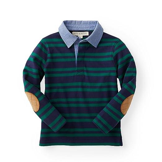 03e135f357d5 Amazon.com  Hope   Henry Boys Striped Long Sleeve Rugby Shirt  Clothing