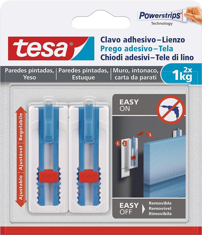 Tesa - Clavo adhesivo para colgar lienzos y marcos para bastidores ...