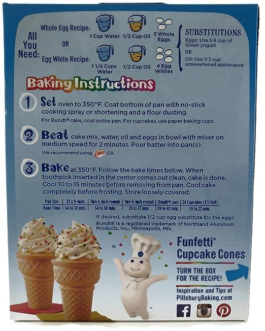 Amazon Pillsbury Funfetti Cake Mix 1525 Oz 2 Pk Grocery