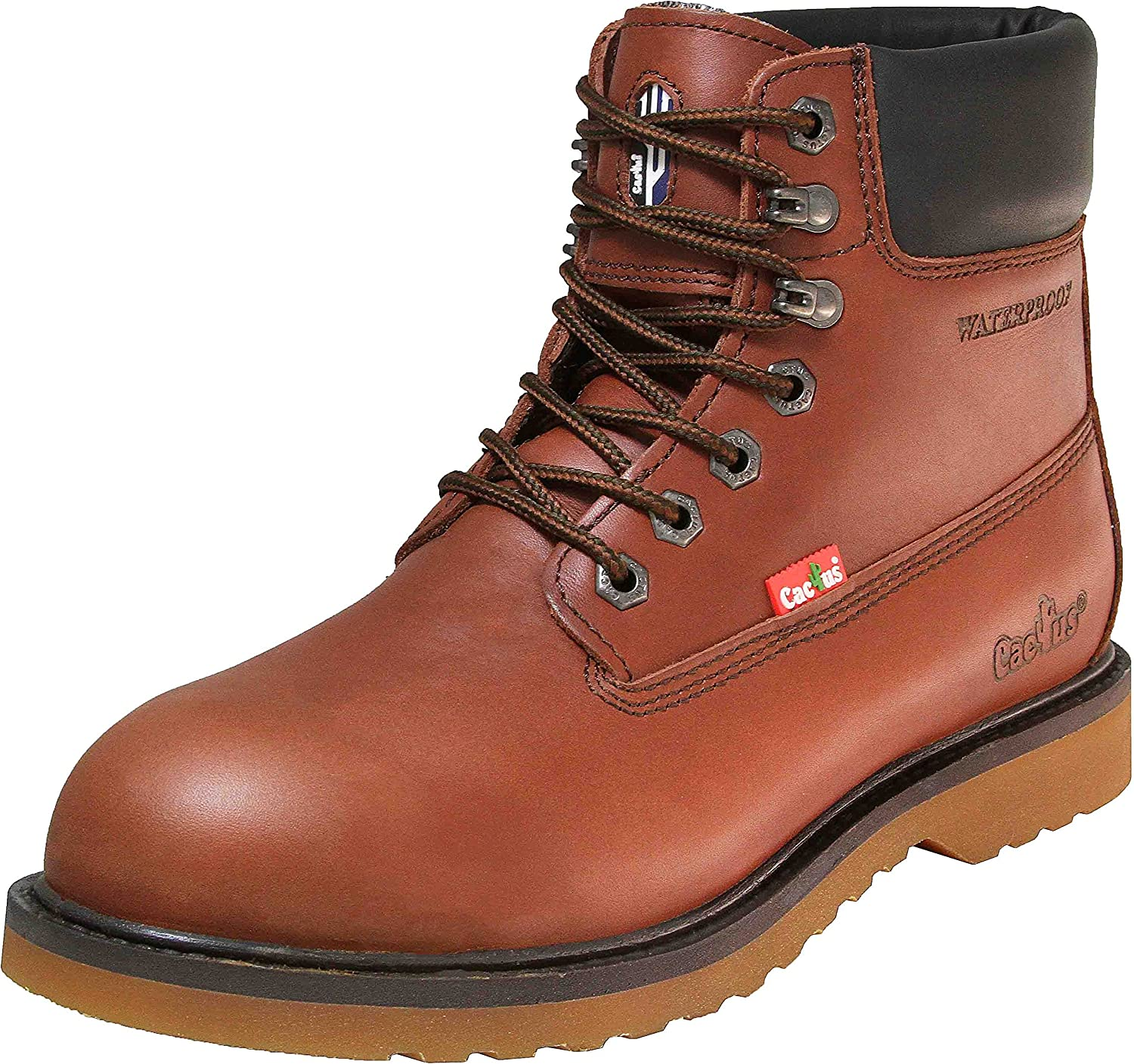 WP6118 Brown Water-Proof Work Boots   Boots
