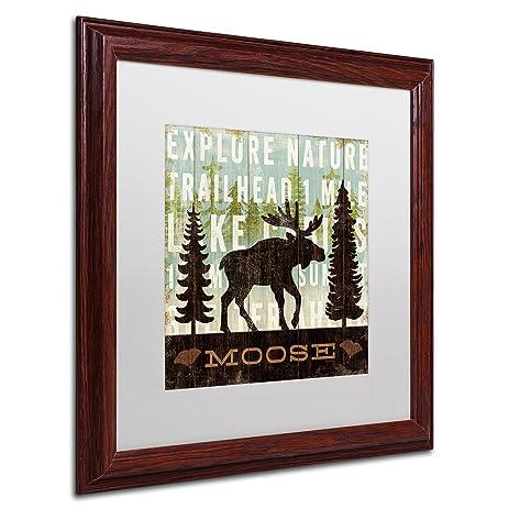 Amazon.com: Simple Living Moose Artwork by Michael Mullan Wood Frame ...