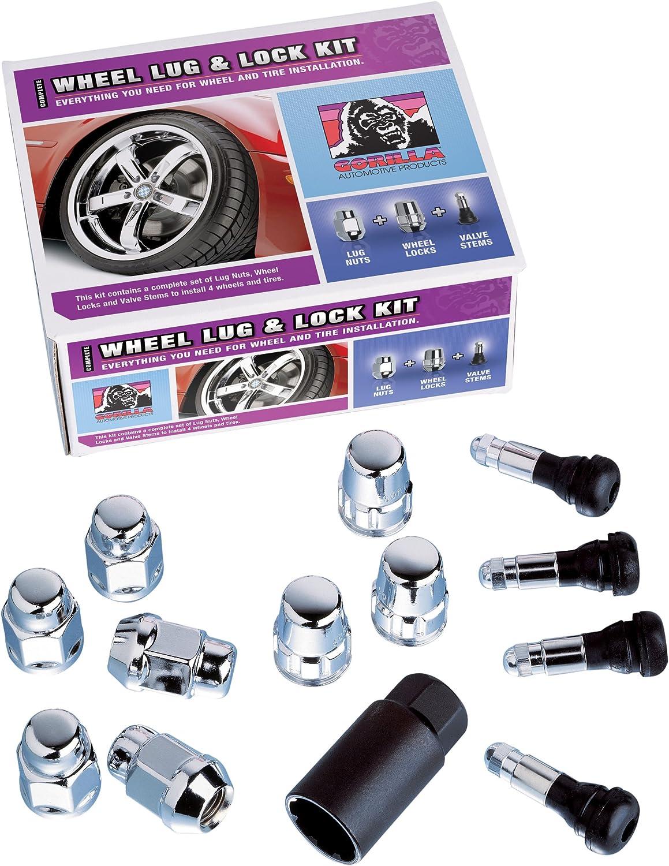 For 5 Lug Wheels Gorilla Automotive 70973 Acorn Open End Wheel Installation Kit 7//16 Thread Size