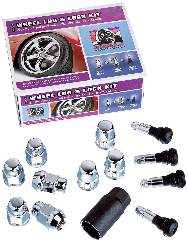 Gorilla Automotive 91944XLHT Acorn Bulge Extra Long Heat Treated Wheel Installation Kit (14mm x 1.50 Thread Size) - For 6 Lug Wheels