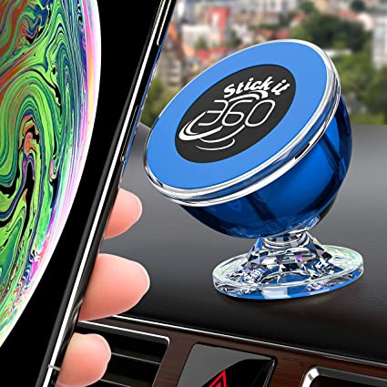 STICK IT 360 Universal Cell Phone Holder for Car, Magnetic Car Phone on victorian blue, industrial blue, texas home blue, florida home blue, charleston home blue,