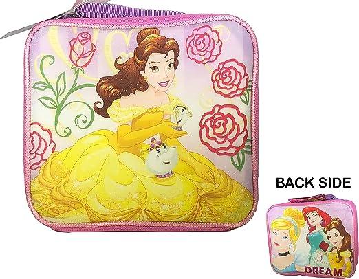 Disney Princess bolsa para el almuerzo para niños con aislamiento – fiambrera con correa mango – la bella