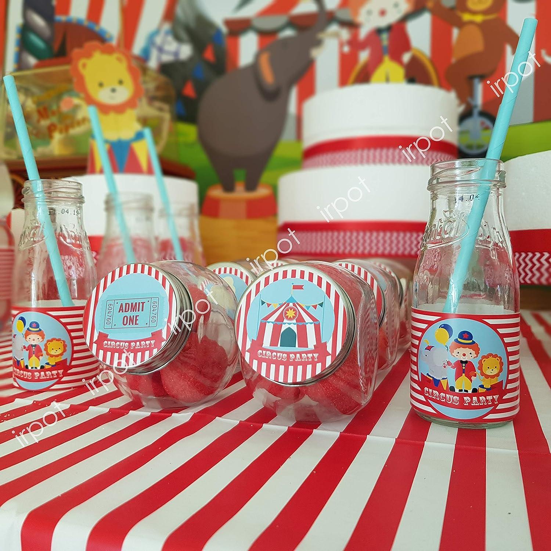 irpot Set Addobbi Adesivi Party a Tema Decorazioni Compleanno Comunione Pompiere