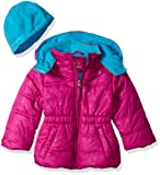Amazon Price History for:Pink Platinum Girls' Star Printed Puffer with Hat