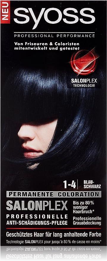 syoss 1 – 4 Azul Negro Color del pelo (3 unidades, X 115 ml)