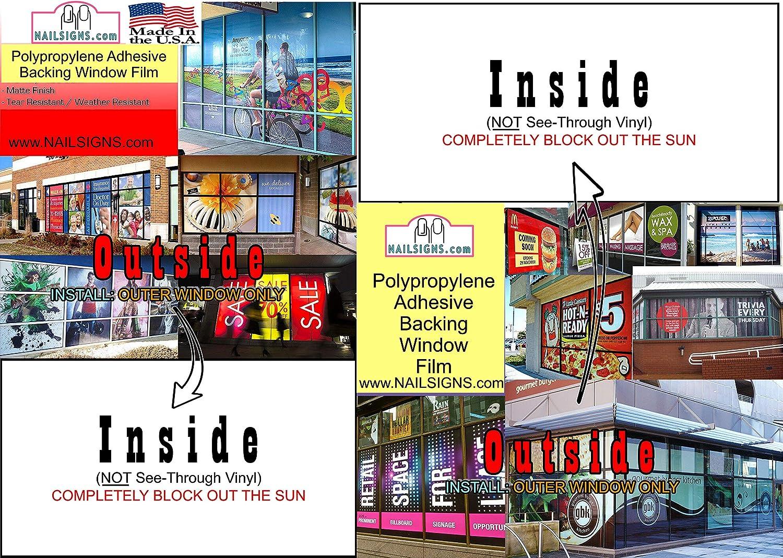 , 72 NAILSIGNS.com Eyebrows XVII Threading Services Salon Mesh Decor See-Through Window Film Paper Wallpaper Poster Transparent Vertical Outdoors LINE Pattern WGLV Transparent Window Vinyl Sign