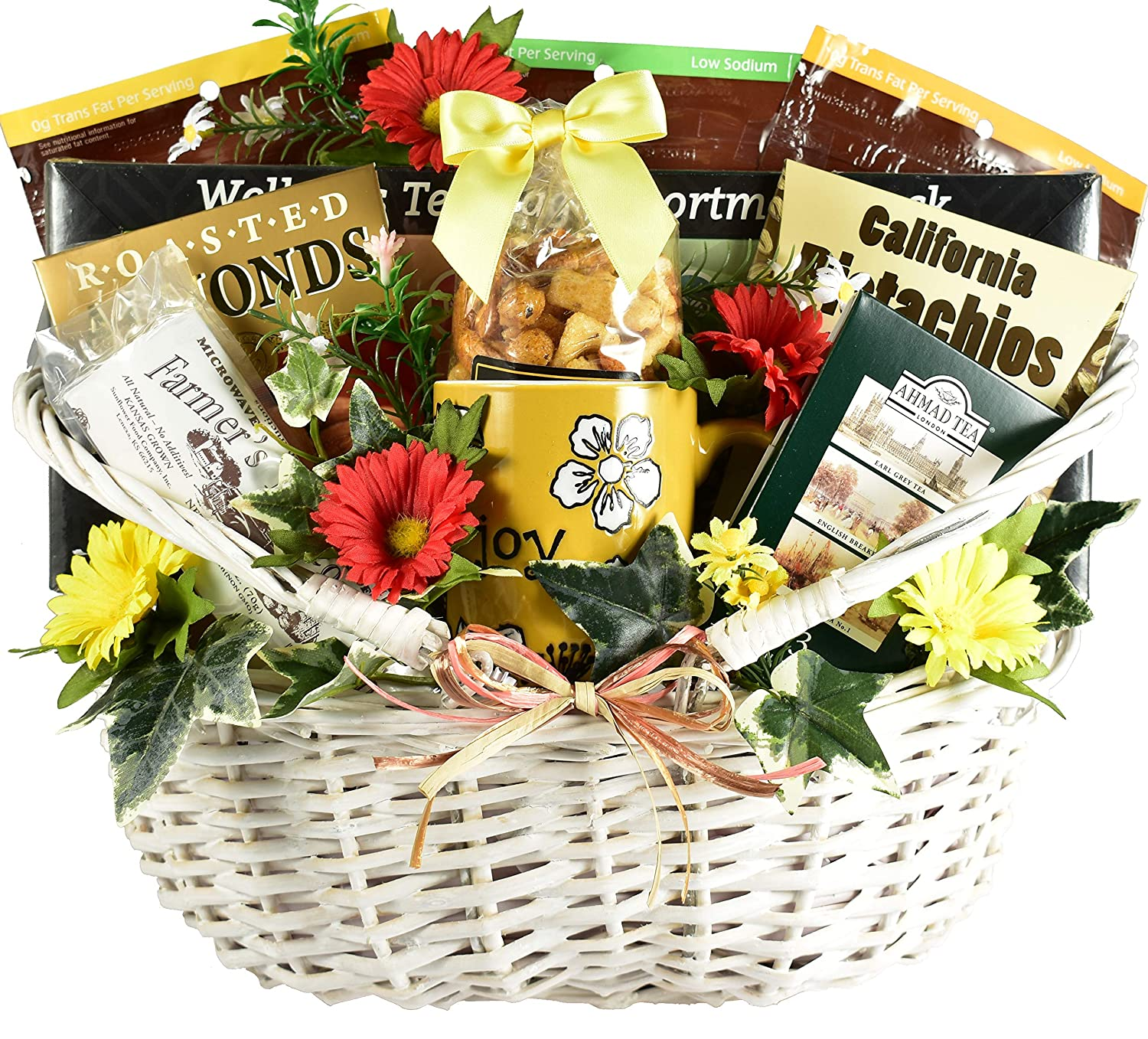 Gift Basket Village The Health Nut Sugar Free Gift Basket with A Variety of Tasty Health Conscious Treats