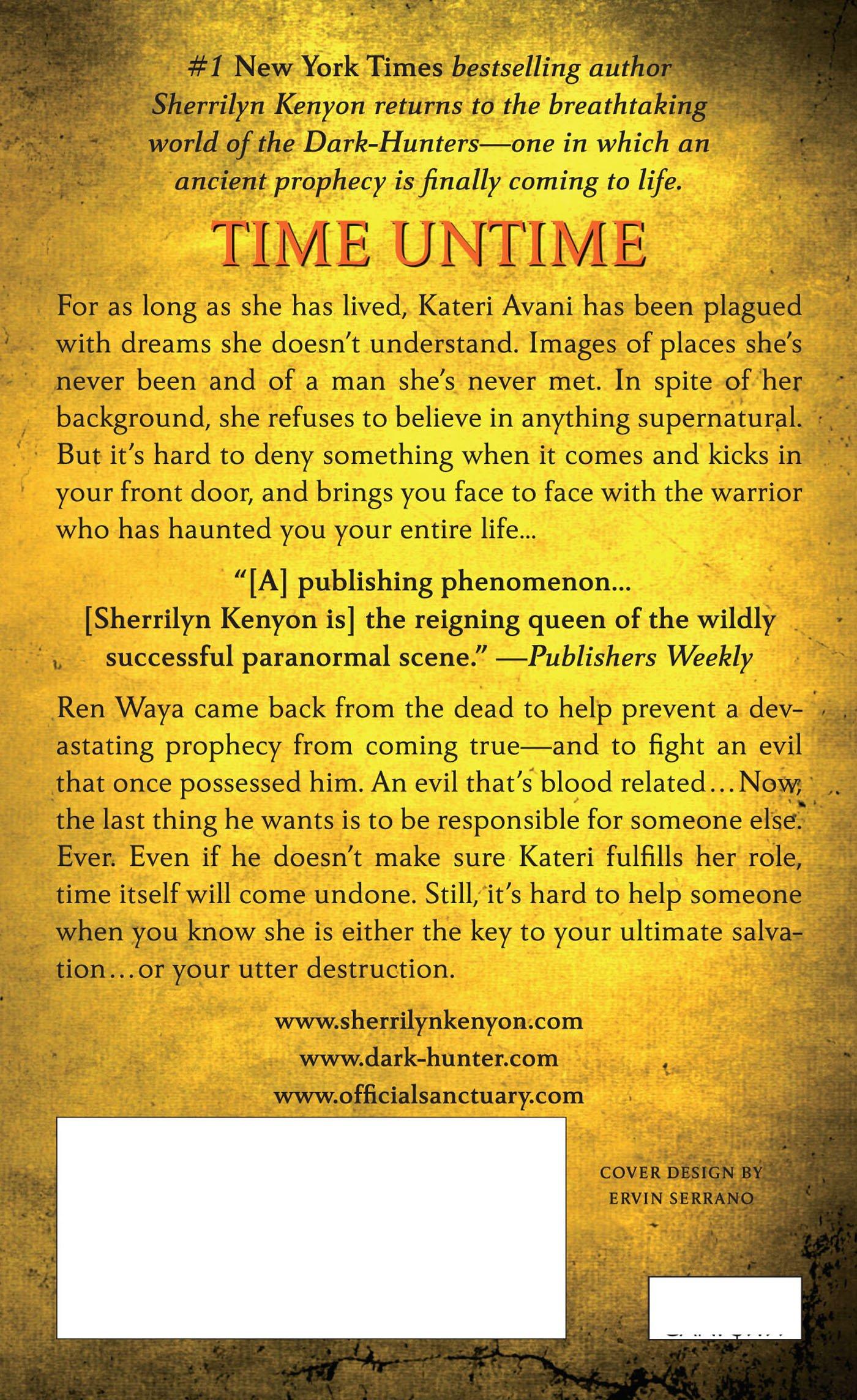 Time Untime (darkhunter Novels): Sherrilyn Kenyon: 9780312550004:  Amazon: Books
