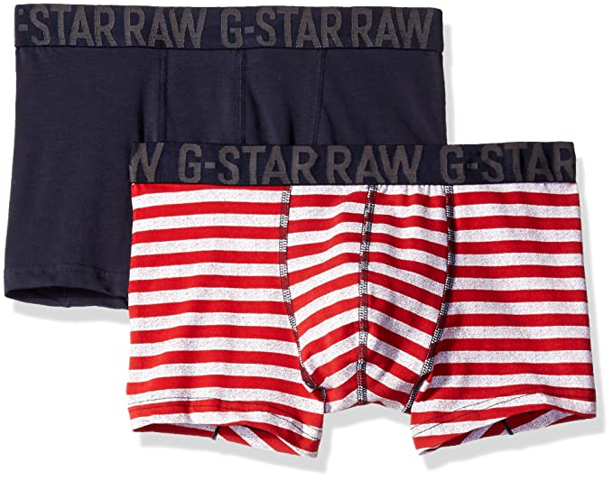 G-STAR RAW Wyssel Sport Trunk 2 Pack, Ropa Interior Técnica para Hombre,