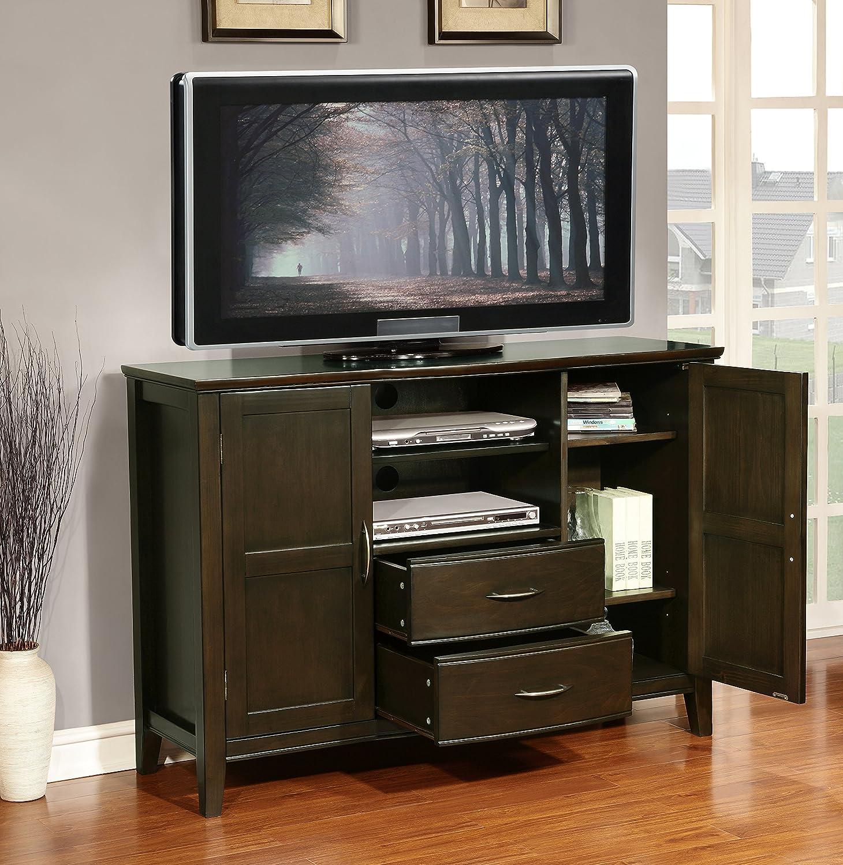 Amazon.com: Simpli Home Williamsburg Tall TV Media Stand for TVs ...