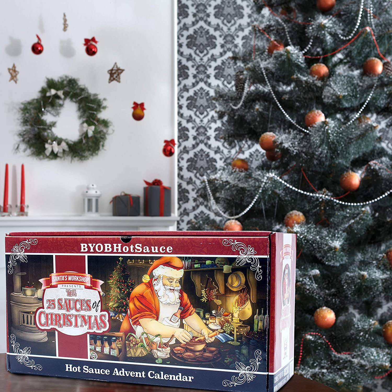 Amazon.com : Hot Sauce Gift Set - 2018 Advent Calendar - The 25 Sauces of  Christmas Countdown to Santa Clause - Also Makes a Great Gift For Christmas  Day ...