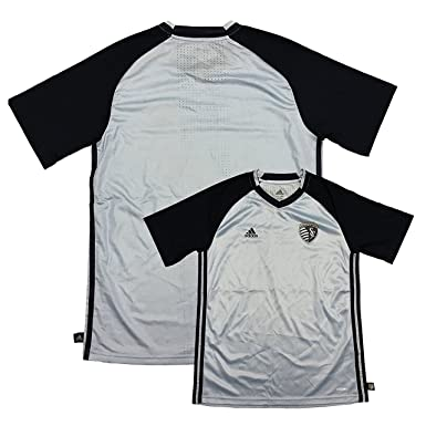 818c54facad Sporting Kansas City Sky Blue Adidas Youth Replica Blank Soccer Jersey (Large  14 16
