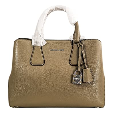 c9c4846a46a8 MICHAEL Michael Kors Camille Medium Leather Pebbled Leather Satchel Dark  Dune: Handbags: Amazon.com