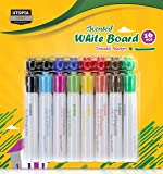 ArtFrenzy Dry Erase Markers - Low Odor Erasable White Board Chalk Markers Set - Pack of 16 Assorted Colors - Chisel Tip - Non-Toxic Low Odor - by Utopia Home
