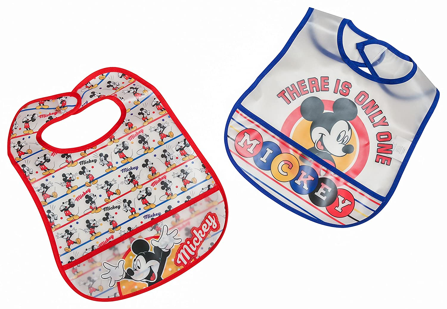 NEW Disney Mickey Mouse Minnie Princess Toddler Water Proof Bibs 2 pk FREE SHIP
