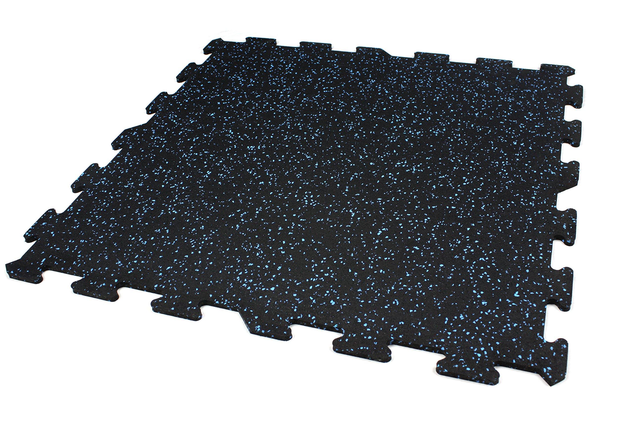 Amazon Com Incstores 8mm Strong Rubber Tiles Blue 4