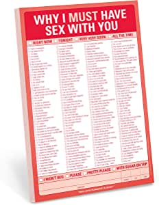 Knock Knock Why I Must Have Sex with You Checklist Note Pad, 6 x 9-inches