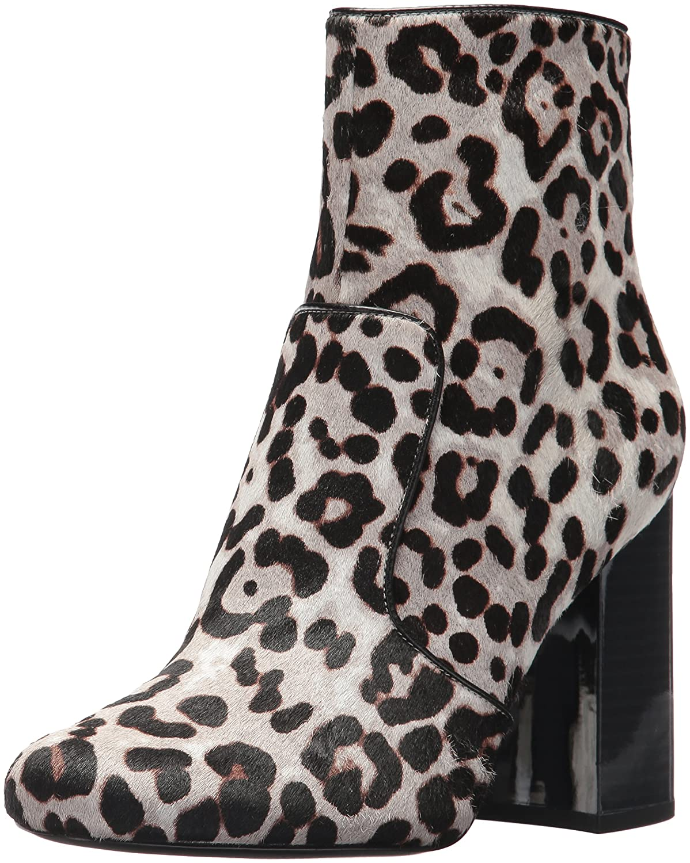 Nine West Women's Jilene Ankle Boot B06WD3LXFB 9 B(M) US|Grey Multi/Black Pony