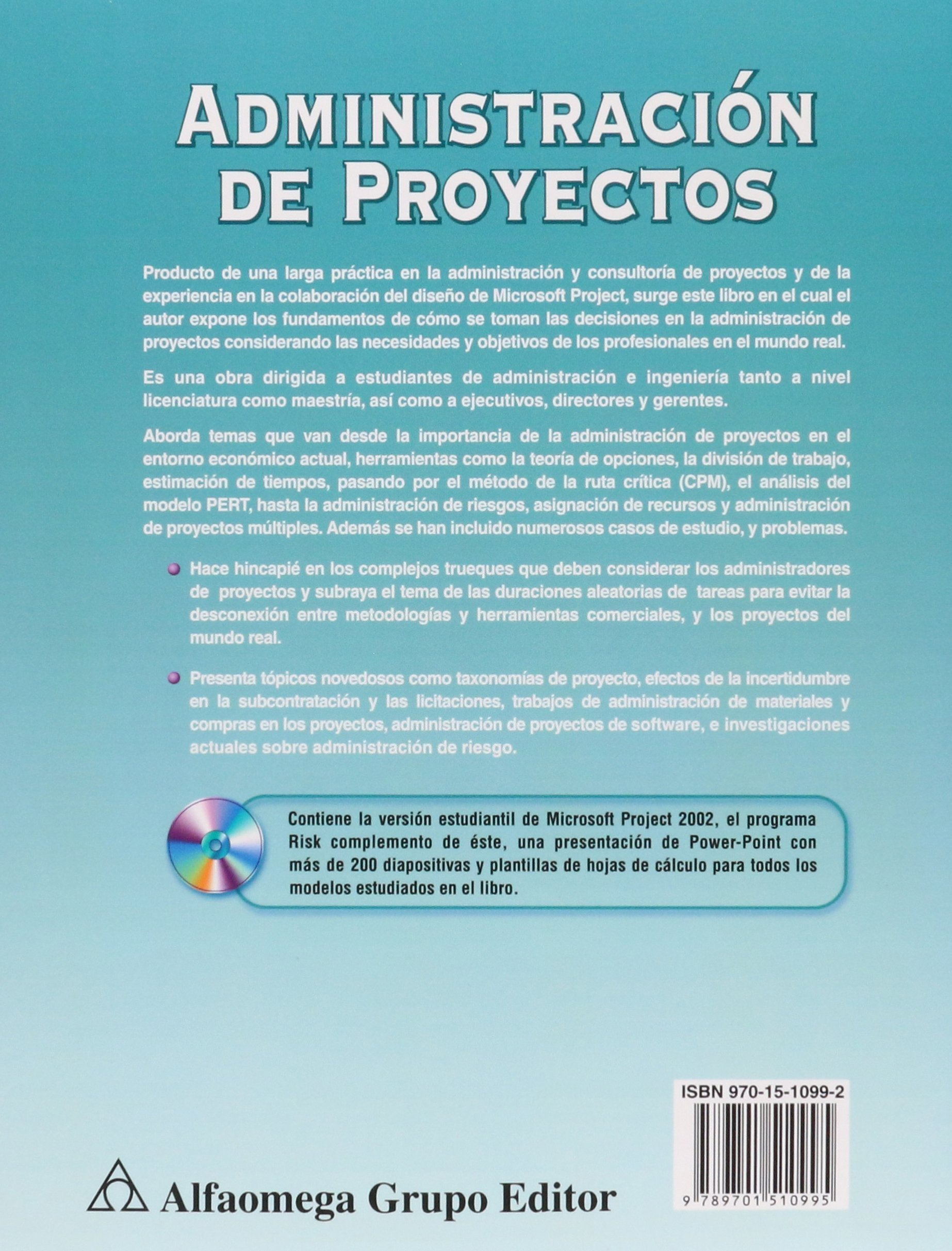 Administración de proyectos (Spanish Edition): KLASTORIN, Ted ...