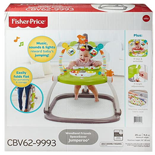 74d13549d63c Amazon.com   Fisher-Price Woodland Friends SpaceSaver Jumperoo   Baby