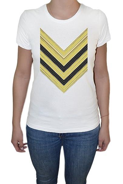Fila de ejército Camiseta Para Mujer Blanco Todos Los Tamaños | Womens T-Shirt White