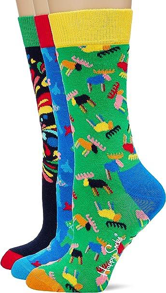 erPack 3 Happy Socks Damen I Love You Gift Box Socken,