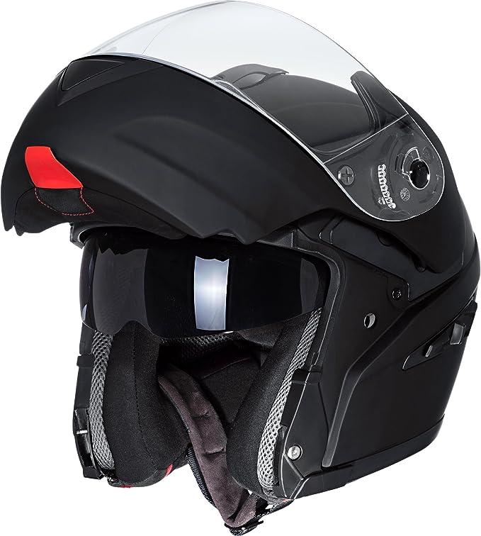 Nexo Klapphelm Motorradhelm Helm Motorrad Mopedhelm Klapphelm Fiberglas Travel Mattschwarz Xl Unisex Tourer Ganzjährig Matt Schwarz Bekleidung