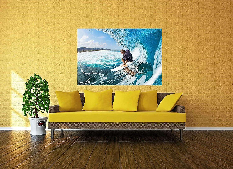 Great Art 2er Set XXL Poster Surfer und Skydiver Wandbild Dekoration Surf Skydiving Extrem-Sport Adventure Set Bild Wallpaper Foto-Poster Wanddeko Wand-Poster 140cm x 100cm